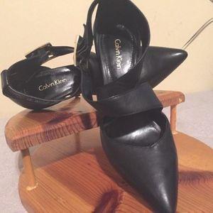 Calvin Klein Black Stilettos Pointed Pump Size 8.5